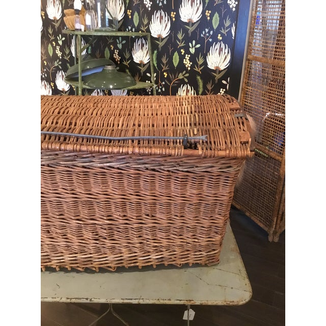 French 20th Century French Woven Wicker Basket For Sale - Image 3 of 13