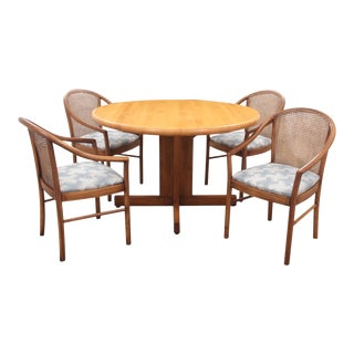 Vintage Mid Century Italian Dining Set- 5 Pieces For Sale