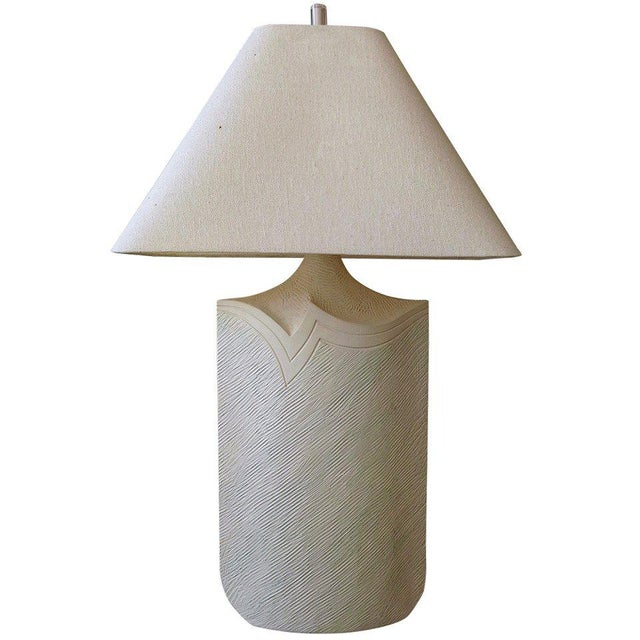 Large Plaster and Lucite Lamp by Casual Lamps of California For Sale - Image 11 of 11