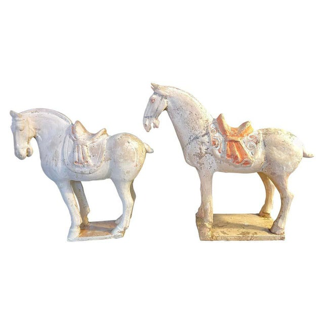 Antique Tang Pottery Horses - a Pair For Sale - Image 13 of 13