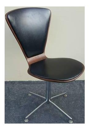 1960s Danish Mid-Century Modern Arne Jacobsen Walnut u0026 Leather Task Chair  sc 1 st  Chairish & 1960s Danish Mid-Century Modern Arne Jacobsen Walnut u0026 Leather Task ...