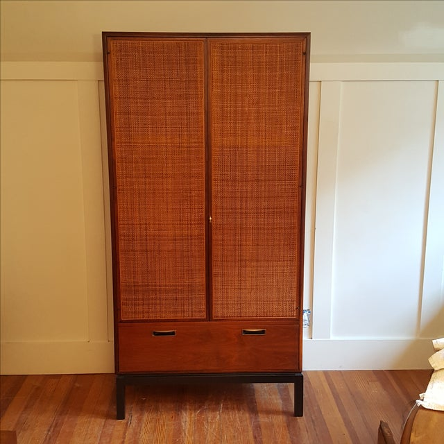 Mid-Century Knoll Attributed Caned Cabinet - Image 2 of 6