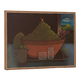 Carveth Hilton Kramer (New York) Whimsical Still Life Oil Painting C.1970s For Sale