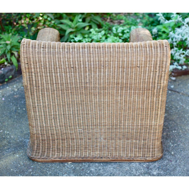 1970s Vintage Scultpural Wicker Seating Set- 5 Pieces For Sale - Image 9 of 13