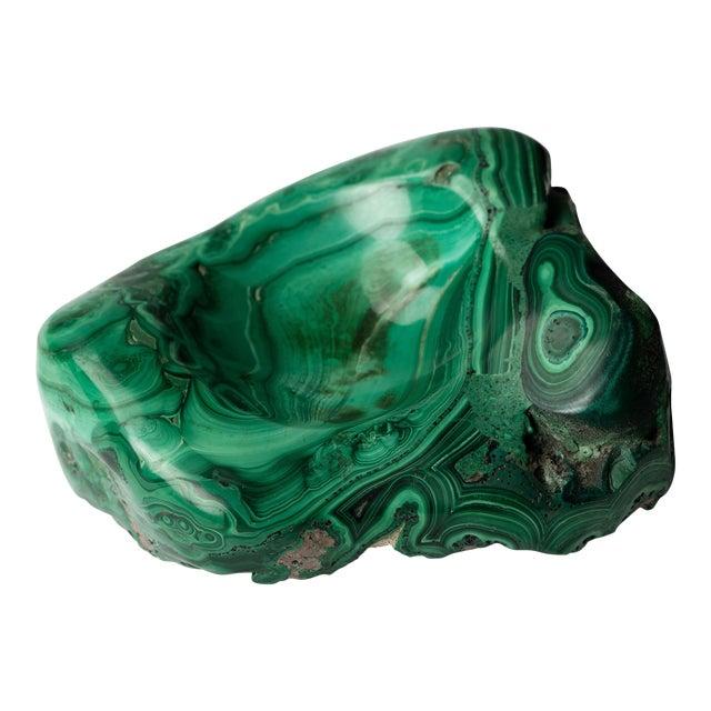 Malachite Natural Specimen Vide Poche Stone Paperweight For Sale