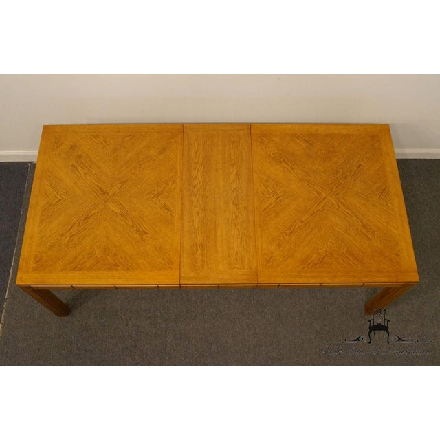 "Late 20th Century Thomasville Furniture New Country Collection 84"" Dining Table For Sale - Image 5 of 13"