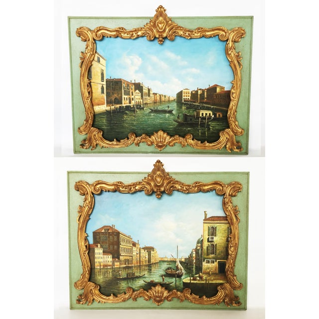 d53590153ca6 Stunning Pair of Overdoor Paintings For Sale - Image 11 of 11