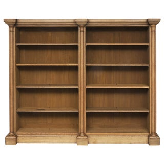 William IV Bleached Oak Library Open Bookcase, circa 1830 For Sale