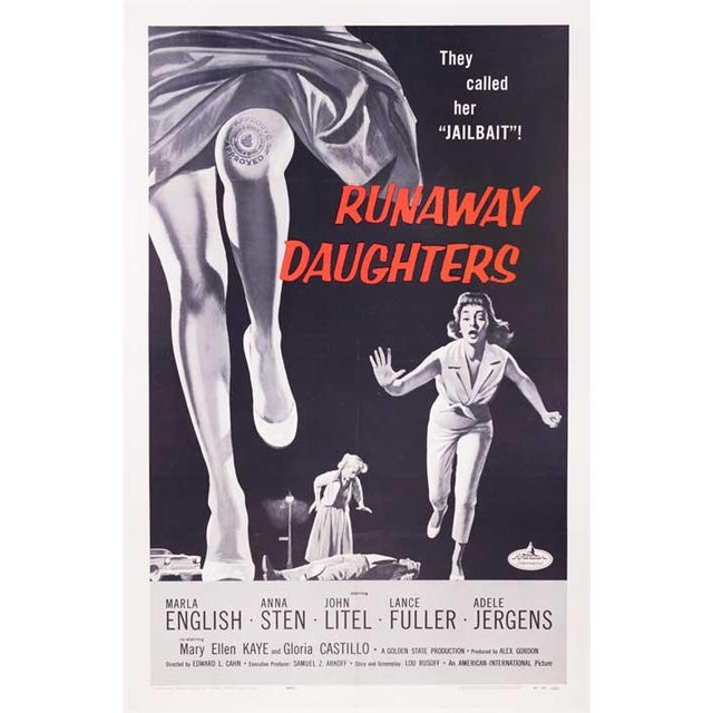Runaway Daughters Linen-Mounted 1956 Movie Poster - Image 2 of 2