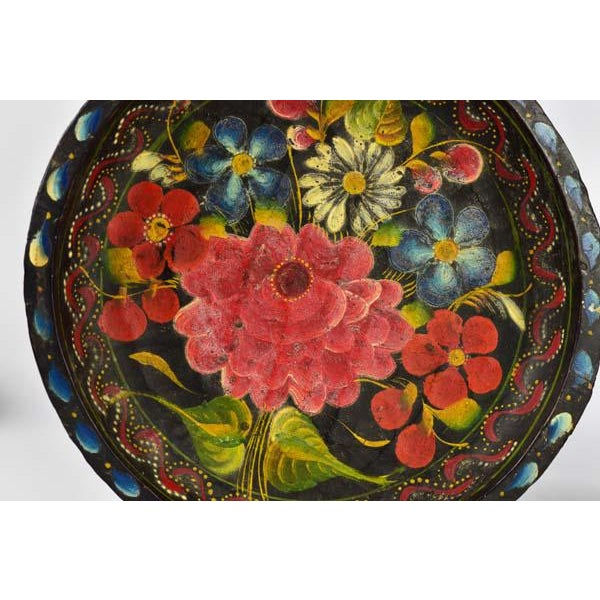 A beautiful Pair of Batea bowls handpainted in Mexico. These beautiful toleware type bowls were found among several...