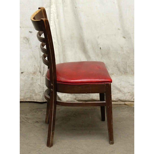 Red Seated Chairs - a Pair For Sale - Image 6 of 8