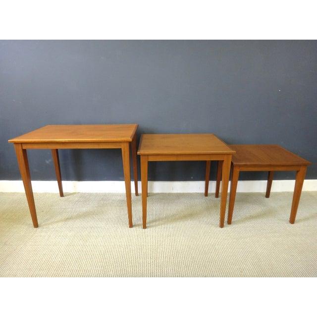 Danish Modern Teak Nesting Tables - Image 4 of 6