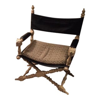 1990s Vintage Original Marge Carson Oriental Design Chair For Sale