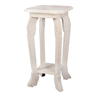 Imperial Beauty Telephone Table in MOP/White For Sale