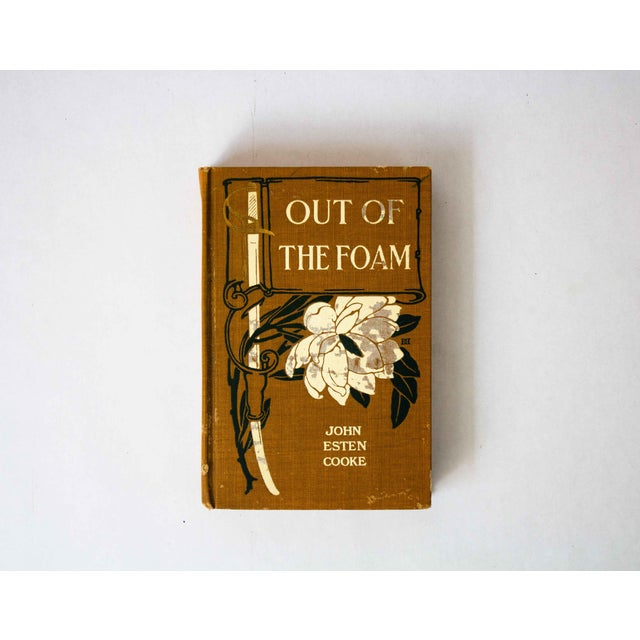 "Tan ""Out of the Foam"" by John Esten Cooke Hardcover Book For Sale - Image 8 of 8"