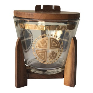 Georges Briard Vintage Ice Bucket With Stand