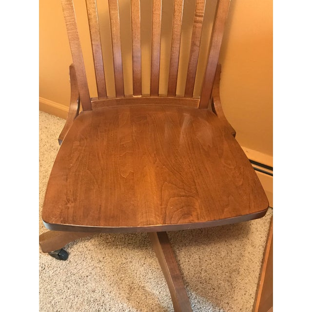 Pottery Barn Wooden Desk Chair - Image 3 of 8