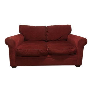 Modern Crate & Barrel Love Seat For Sale