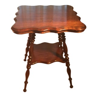20th Century Victorian 2-Tier Mahogany Parlor Table For Sale