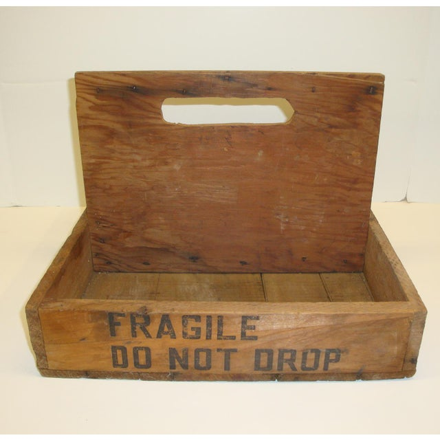 Authentic old wood crates are super hip right now - use this as a desk and mail organizer, a gardening tote, or as a...