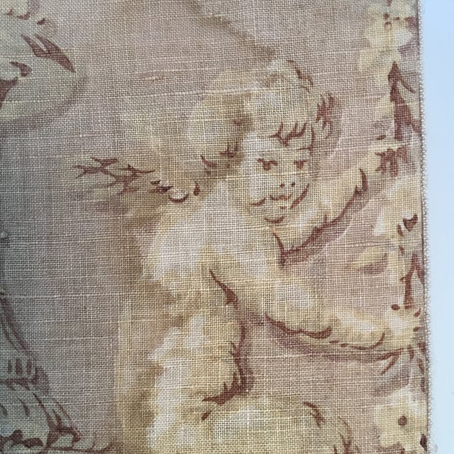 18th Century French Textile Printed Linen Panels - a Pair For Sale In Providence - Image 6 of 13
