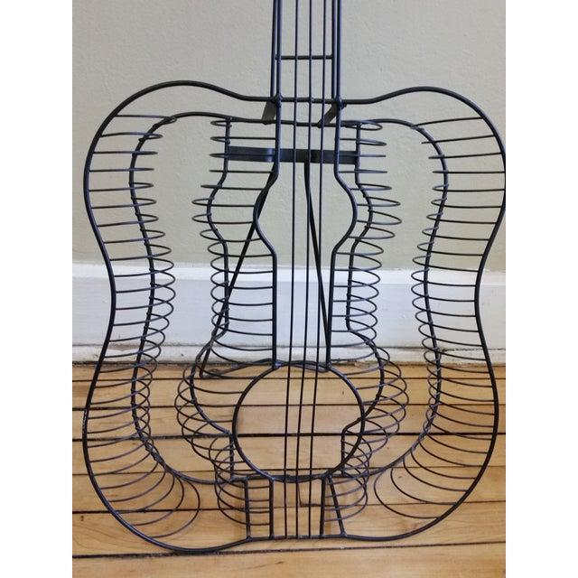 Vintage Metal Guitar Sculpture - Image 3 of 7