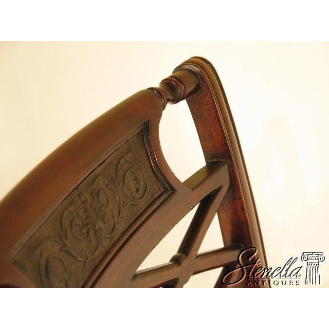Theodore Alexander Pair Regency Mahogany Arm Chairs #4100-236 For Sale - Image 10 of 11