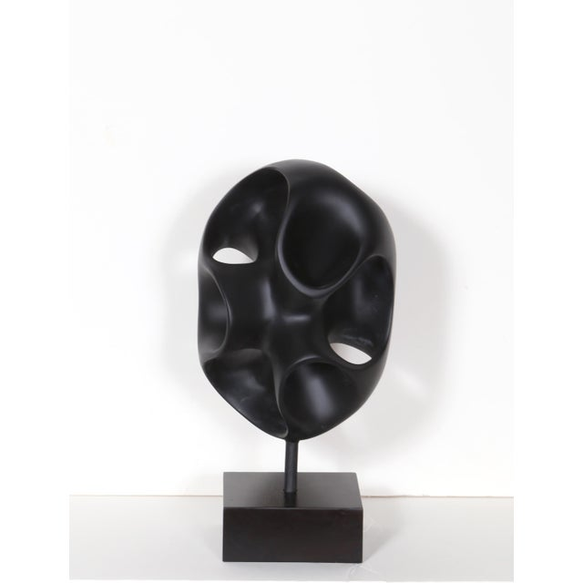 Abstract Black Abstract Modern Sculpture For Sale - Image 3 of 5