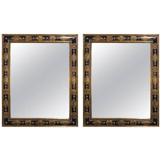 Moroccan Moorish Style Blue Mirrors - a Pair For Sale