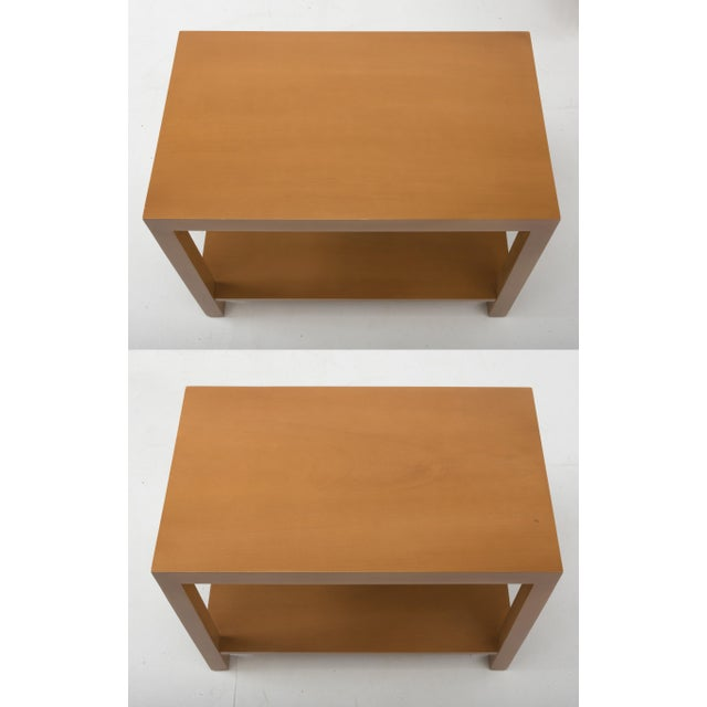 Wood T.H. Robsjohn Gibbings Widdicomb Parsons End Tables - a Pair 1949 For Sale - Image 7 of 13