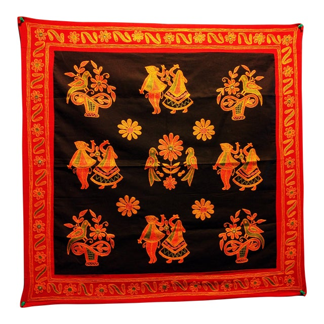 Ethnic Indian Embroidered Tapestry - Image 1 of 6