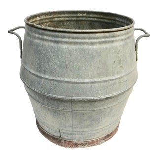 Vintage French Zinc Dolly Tub For Sale