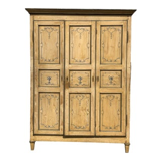 French Neoclassic Painted Armoire For Sale