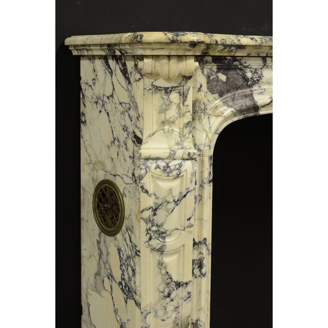 Paonazetto Pompadour Fireplace Mantel For Sale - Image 11 of 12