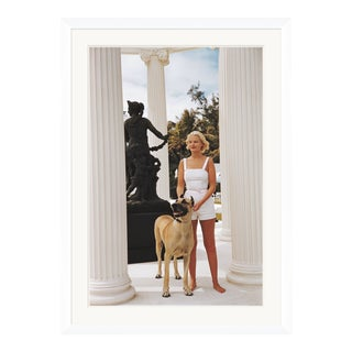 """Slim Aarons, """"C.Z. Guest with her Great Dane,"""" January 1,1955 Getty Images Gallery Framed Art Print For Sale"""