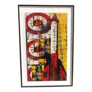 Framed Original Signed Daryl Thetford Rocket Photo Collage For Sale