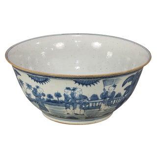 Blue & White Ceramic Bowl For Sale