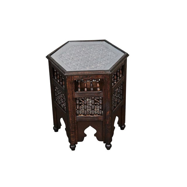 Early 20th Century Indian Six Sided Tabouret For Sale - Image 5 of 5