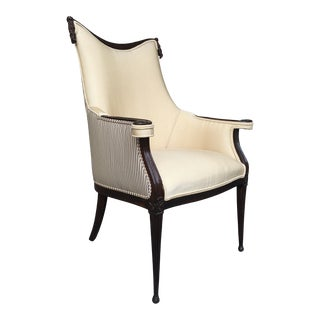 Hollywood Regency Yellow Armchair For Sale