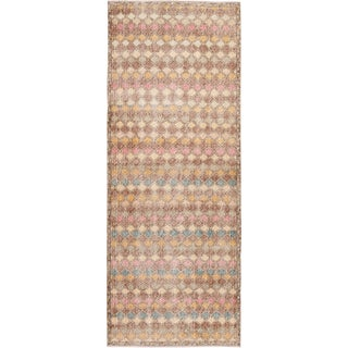 Mid 20th Century Vintage Art Deco Wool Runner Rug For Sale