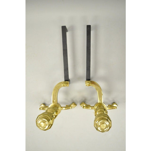 Williamsburg Style Branch Foot Ball & Claw Andirons - A Pair For Sale - Image 10 of 13