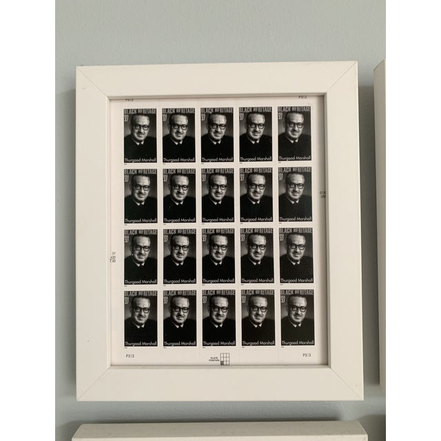 Rare Black Heritage Month framed stamp collection featuring a sheet of stamps for historic individuals including: 1....