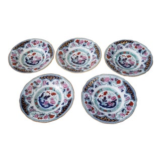 Five Cauldon Transferware Plates For Sale