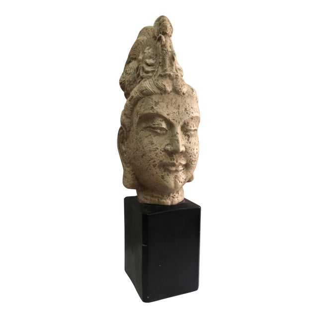 James Mont Style 1960's Buddha Head Sculpture - Image 1 of 9