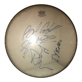 Sex Pistols Autographed Remo Drum Head For Sale