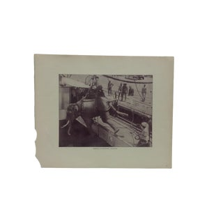 """Antique Glimpses of India Print, """"Shipping an Elephant - Rangoon"""", Circa 1890 For Sale"""