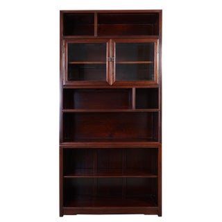 20th Century Chinese Rosewood Book Cabinet For Sale