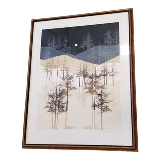 1980s Framed Virgil Thrasher Night Summit Limited Edition Print For Sale