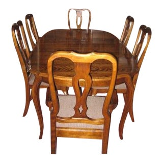 Ethan Allen Country French Dining Room Table and Chairs