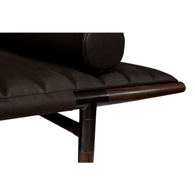 Erickson Aesthetics Rosewood Daybed in Horween Leather For Sale In New York - Image 6 of 6